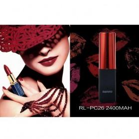 Remax Lipmax Series Lipstick Power Bank 2400mAh - Red