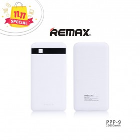 Remax Proda Pingan Series Dual USB Output Power Bank 12000mAh - PPP-9 - White