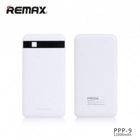Proda Pingan Series Dual USB Output Power Bank 12000mAh - PPP-9 - White - 2