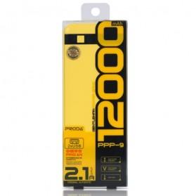 Proda Pingan Series Dual USB Output Power Bank 12000mAh - PPP-9 - White - 6