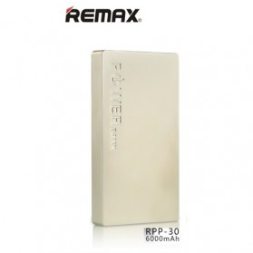 Remax 2 USB Series Power Bank 6000mAh - RPP-30 - Golden