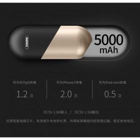 Remax Capsule Series Power Bank 5000mAh - RPL-22 - Silver - 5
