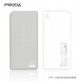 Proda Chicon Qi Wireless Charging Power Bank 10000mAh - PPP-33 - Gray