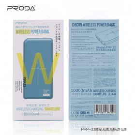 Proda Chicon Qi Wireless Charging Power Bank 10000mAh - PPP-33 - Gray - 4