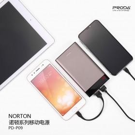 Proda Norton Power Bank 2 Port 10000mAh - PD-P09 - Black - 2