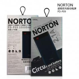 Proda Norton Power Bank 2 Port 10000mAh - PD-P09 - Black - 7