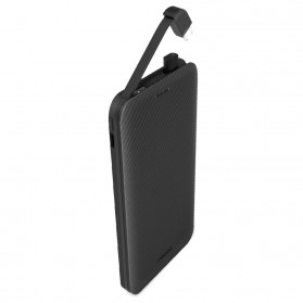 Proda Kacool Power Bank Built-in Micro USB Cable 5000mAh - PD-P10 - Black