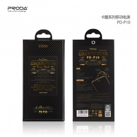 Proda Kacool Power Bank Built-in Micro USB Cable 5000mAh - PD-P10 - Black - 3