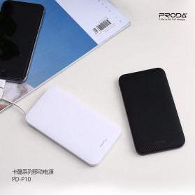 Proda Kacool Power Bank Built-in Micro USB Cable 5000mAh - PD-P10 - Black - 4