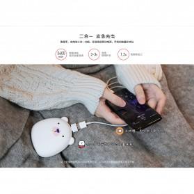 Remax Pinguin Power Bank 3600mAh Hand Warmer - RL-WM15 - Black - 7
