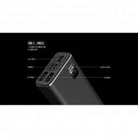 Remax Mini Pro Power Bank Dual USB 10000mAh - RPP-155 - Black - 4