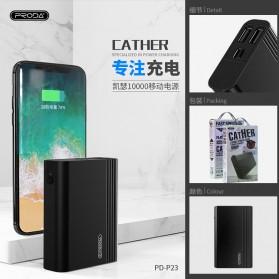 Remax Cather Power Bank USB Type C 2 Port 10000mAh - PD-P23 - Black - 4
