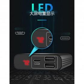 Remax Cather Power Bank USB Type C 2 Port 10000mAh - PD-P23 - Black - 8
