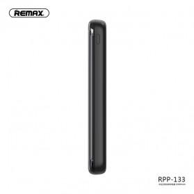 Remax Mirror Qi Wireless Charging Power Bank 2 Port 10000mAh - RPP-133 - Black - 2