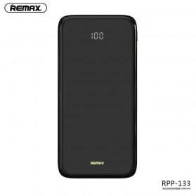 Remax Mirror Qi Wireless Charging Power Bank 2 Port 10000mAh - RPP-133 - Black - 4