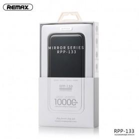 Remax Mirror Qi Wireless Charging Power Bank 2 Port 10000mAh - RPP-133 - Black - 5