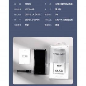 Remax Mirror Qi Wireless Charging Power Bank 2 Port 10000mAh - RPP-133 - Black - 7