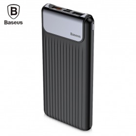 Baseus Power Bank 3 Port QC 3.0 USB Type C Input 10000mAh - Black