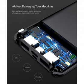 Baseus Power Bank 3 Port QC 3.0 USB Type C Input 10000mAh - PPYZ-C01 - Black - 4