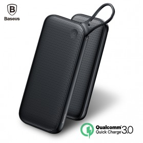 Baseus Power Bank 2 Port QC 3.0 USB Type C PD Charging 20000mAh - Black