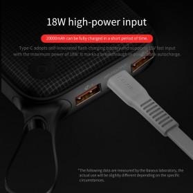 Baseus Power Bank 2 Port QC 3.0 USB Type C PD 20000mAh - PPKC-A01 - Black - 4