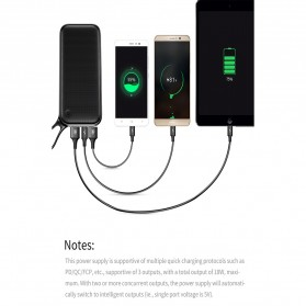 Baseus Power Bank 2 Port QC 3.0 USB Type C PD 20000mAh - PPKC-A01 - Black - 7