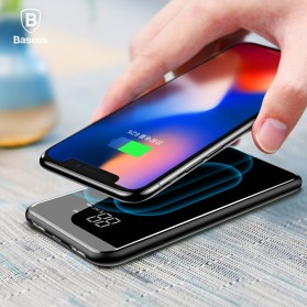 Baseus Qi Wireless Charging 2 Port 2A Power Bank 8000mAh - Q2 - Black