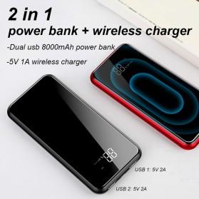 Baseus Qi Wireless Charging 2 Port 2A Power Bank 8000mAh - Q2 - Black - 2