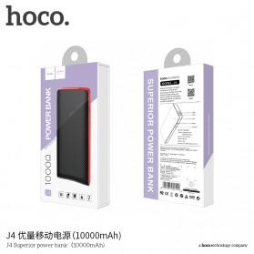 HOCO J4 Superior Power Bank 2 Port 10000mAh - Black - 4