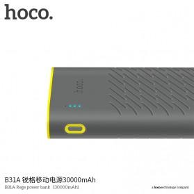HOCO B31A Rege Power Bank 2 Port 30000mAh - Gray - 6
