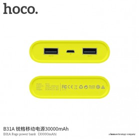 HOCO B31 Rege Power Bank 2 Port 20000mAh - Gray - 2