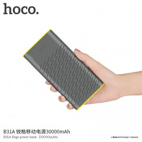 HOCO B31 Rege Power Bank 2 Port 20000mAh - Gray - 5