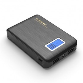 Powerbank - Pineng Power Bank 2 Port 10000mAh with LED Light - PN-928 - Black