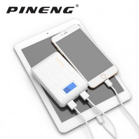 Pineng Power Bank 2 Port 10000mAh with LED Light - PN-928 - Black - 6