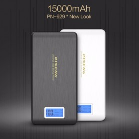 Pineng Power Bank 2 Port 15000mAh with LED Light - PN-929 - Black - 3