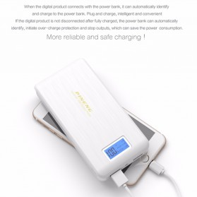 Pineng Power Bank 2 Port 15000mAh with LED Light - PN-929 - Black - 5