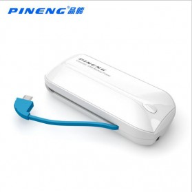 Pineng Power Bank Built-in Micro USB Cable 5000mAh - PN-915 - White - 3