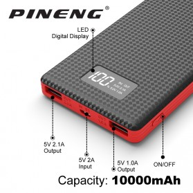 PINENG Power Bank 2 Port 10000mAh - PN-963 - Black - 2