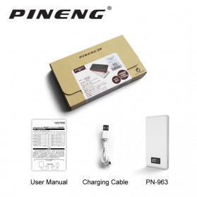 PINENG Power Bank 2 Port 10000mAh - PN-963 - Black - 3