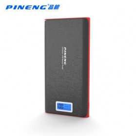 Pineng Power Bank 2 Port 20000mAh with LED Light - PN-920 - Black