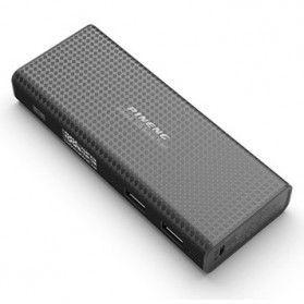 Pineng Power Bank 2 Port 10000mAh with LED Light - PN-953 - Black