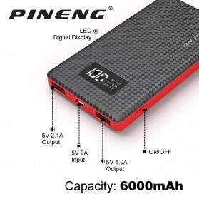 Pineng Power Bank 2 Port 6000mAh - PN-960 - Black - 3