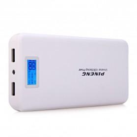 Pineng Power Bank 2 Port 20000mAh with LED Light - PN-999 - White - 4