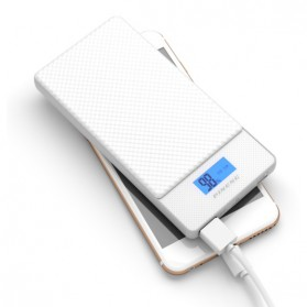 Pineng Power Bank USB Type C 2 Port QC 3.0 10000mAh - PN-993 - White