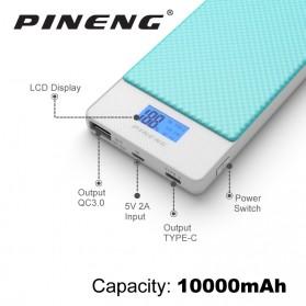 Pineng Power Bank USB Type C 2 Port QC 3.0 10000mAh - PN-993 - White - 2