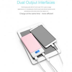 Pineng Power Bank USB Type C 2 Port QC 3.0 10000mAh - PN-993 - White - 9