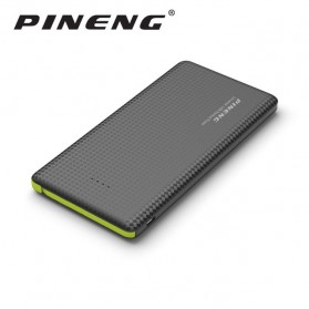 Pineng Power Bank Built-in Micro USB Cable 10000mAh with Lightning Adapter - PN-951 - Black
