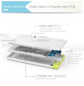 Pineng Power Bank Built-in Micro USB Cable 5000mAh - PN-952 - Black - 2