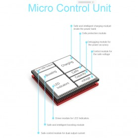 Pineng Power Bank Built-in Micro USB Cable 5000mAh - PN-952 - Black - 5