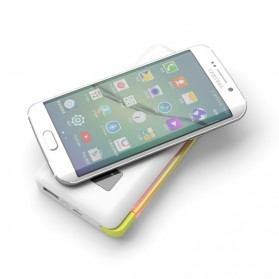 Pineng Qi Wireless Charging Power Bank Built-in Micro USB Cable 10000mAh QC3.0 - PN-888 - White - 3